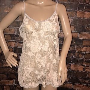 BKE floral pink gray cami Buckle